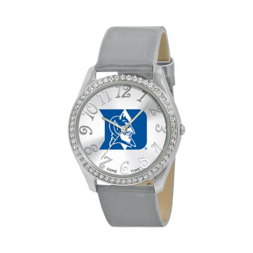 Game Time Glitz Duke Blue Devils Silver Tone Crystal Watch - COL-GLI-DUK - Women
