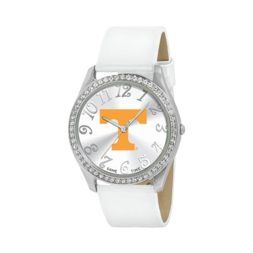 Game Time Glitz Tennessee Volunteers Silver Tone Crystal Watch - COL-GLI-TEN - Women