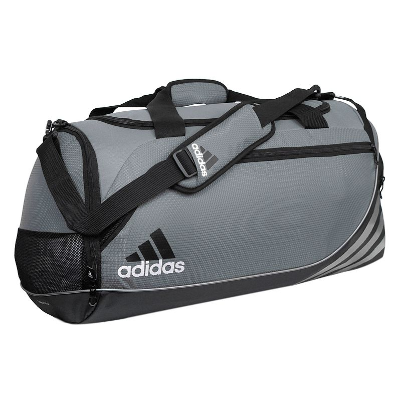 Adidas Team Speed Duffel Bag - Medium, Lead Gray