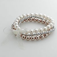 Croft & Barrow® Simulated Pearl Stretch Bracelet Set