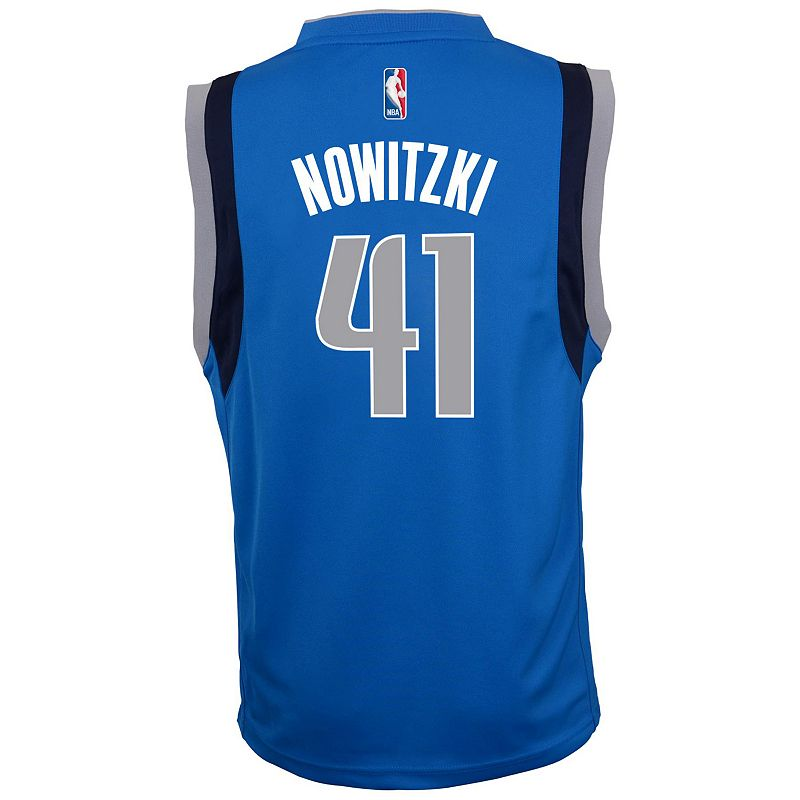 adidas Dallas Mavericks Dirk Nowitzki Team Color NBA Jersey - Boys 8-20