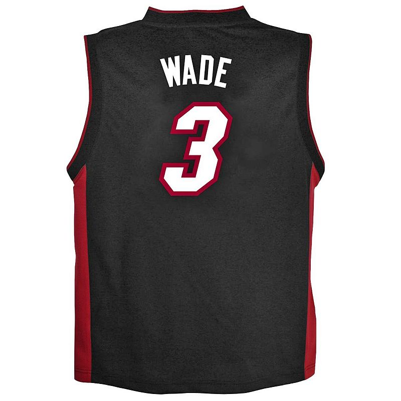 Boys 8-20 adidas Miami Heat Dwyane Wade Team Color NBA Jersey