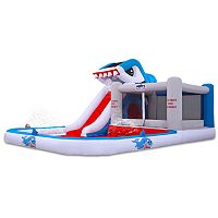 Blast Zone Shark Park Inflatable Water Slide & Bounce House