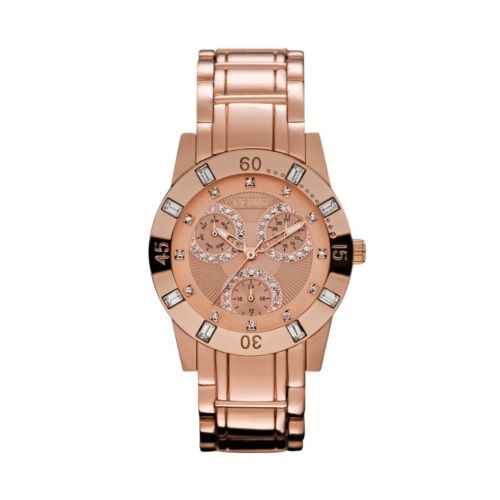 Relic Beth Rose Gold Tone Crystal Watch - ZR15668 - Women