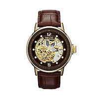 Relic Men's Automatic Leather Skeleton Watch