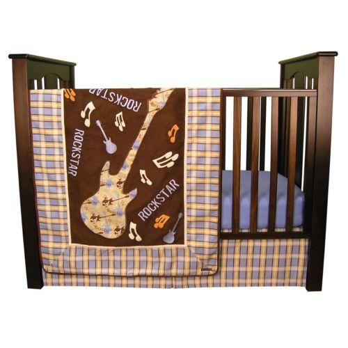 Trend Lab Rockstar 3-pc. Crib Bedding Set