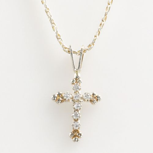 Renaissance Collection 10k Gold 1/10-ct. T.W.  Cross Pendant - Made with Swarovski Zirconia