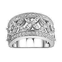 DiamonLuxe Sterling Silver 2 7/8-ct. T.W. Simulated Diamond Flower Ring