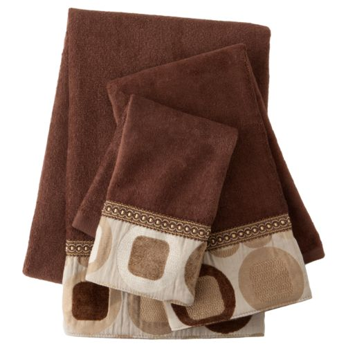 Sherry Kline Metro Brown 3-pc. Decorative Towel Set