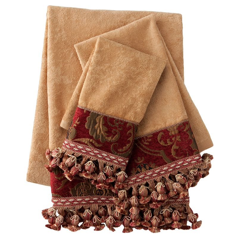 Decorative bath towels with tassels for Decorative bathroom towels