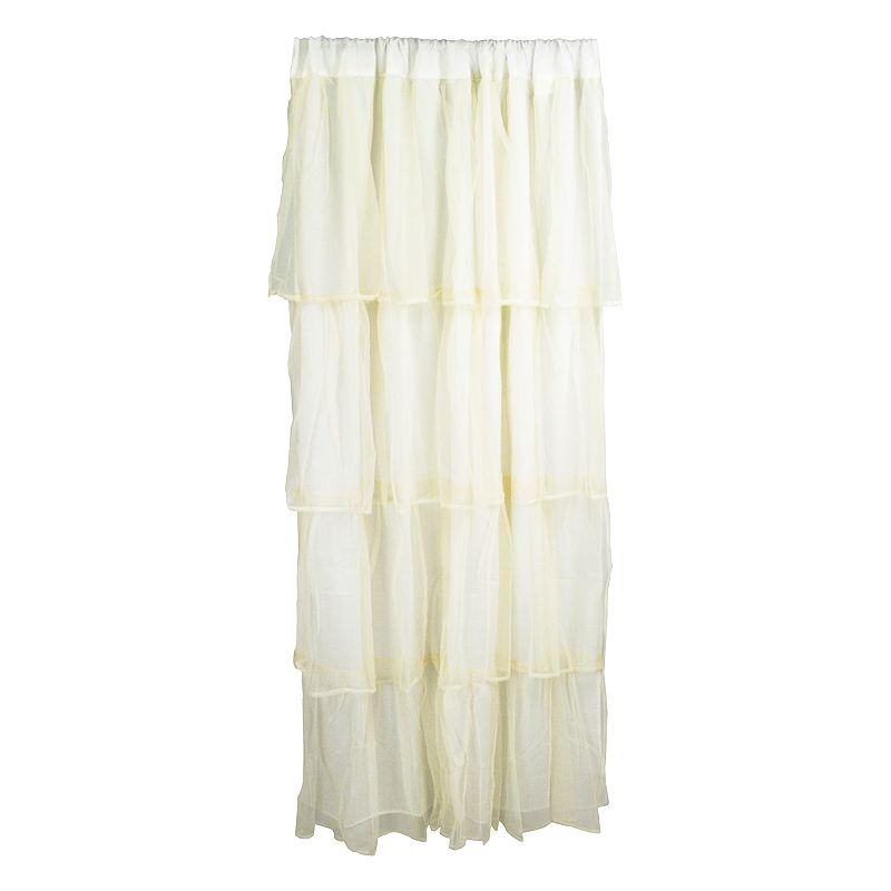 Tadpoles Tulle Tiered Curtain Panel