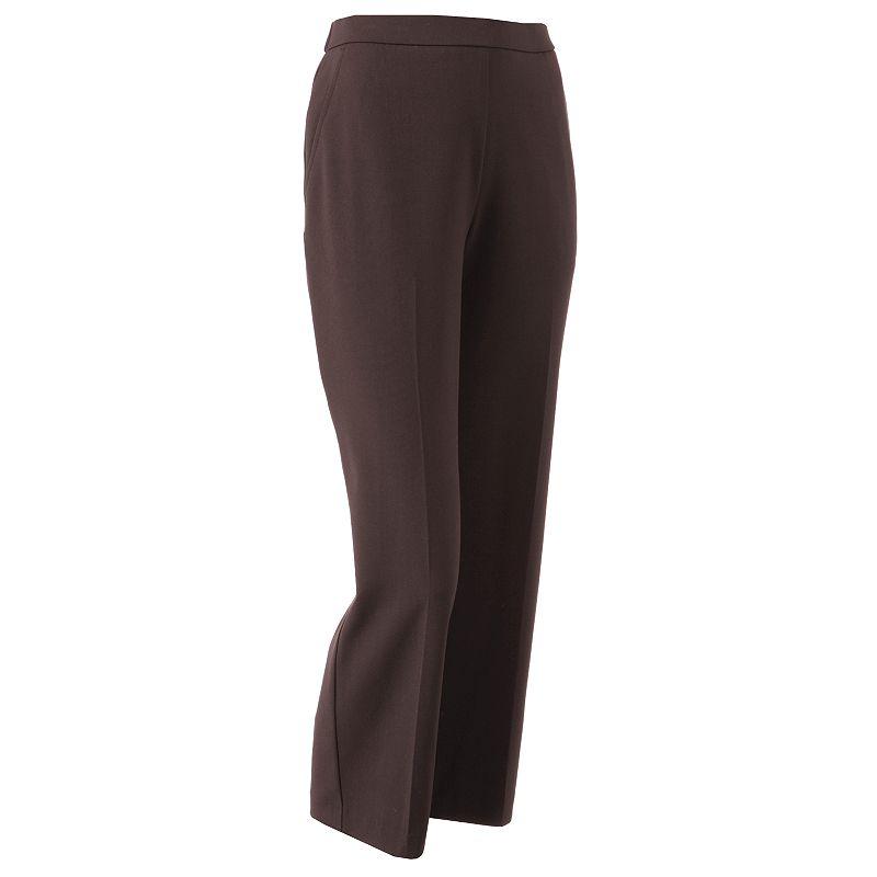 Petite Sag Harbor Straight-Leg Pull-On Dress Pants