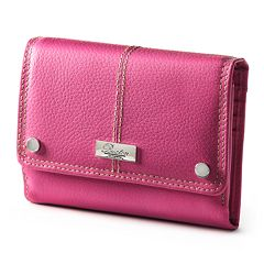 Buxton Westcott Multi-Organizer Fold Over Leather Clutch Wallet by