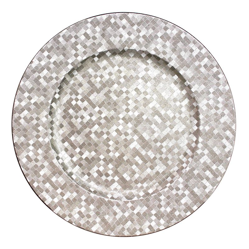 Charge It Mosaic Silver 4-pc. Charger Plate Set