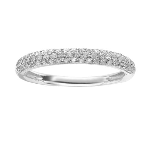 Simply Vera Vera Wang 14k White Gold 1/4-ct. T.W. Diamond Wedding Ring