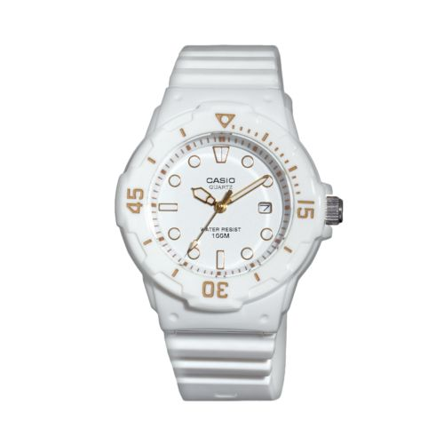 Casio White Resin Watch - LRW200H-7E2VCF - Women
