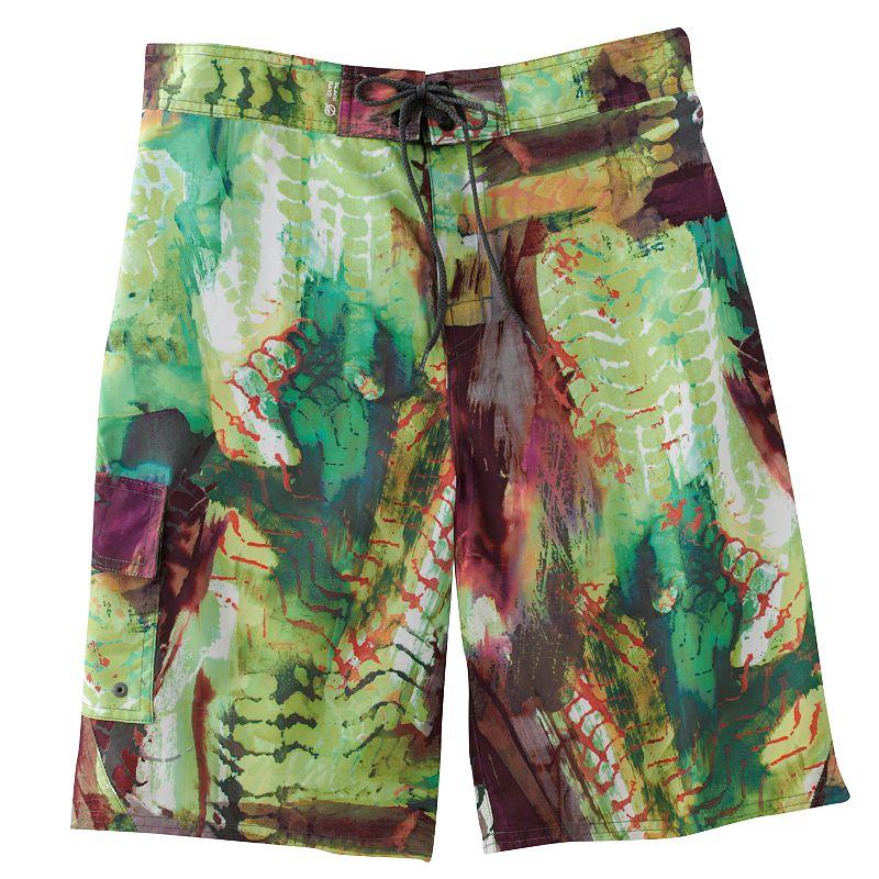 Men's Beach Rays Abstract E-Board Shorts