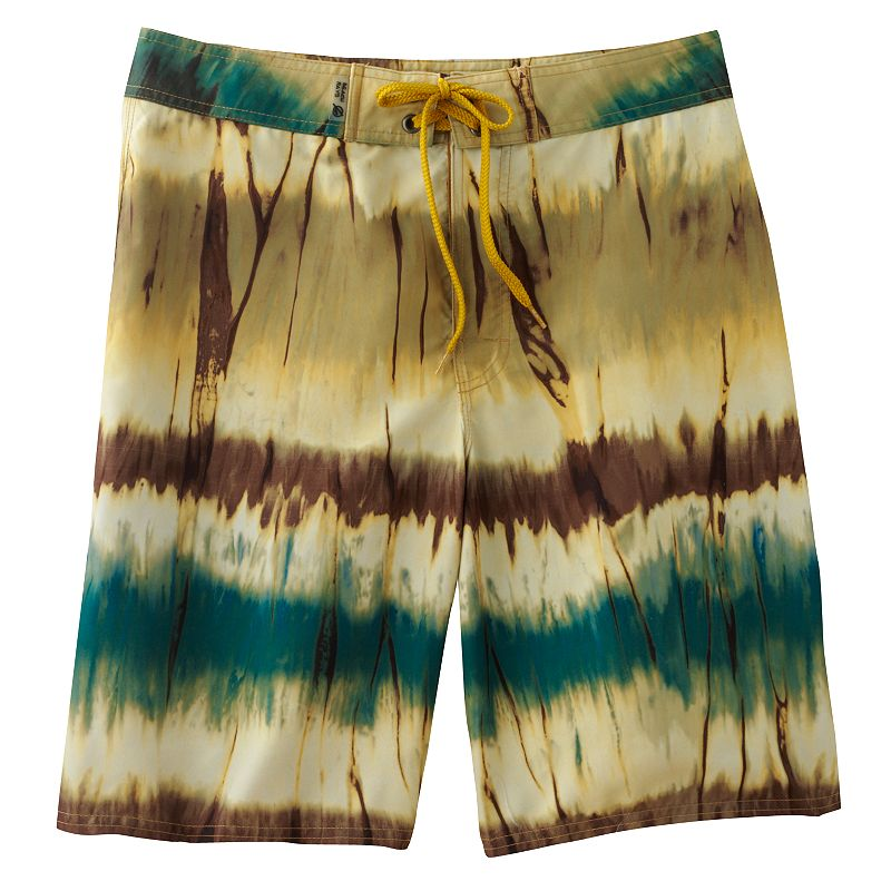 Men's Beach Rays Striped Abstract Board Shorts