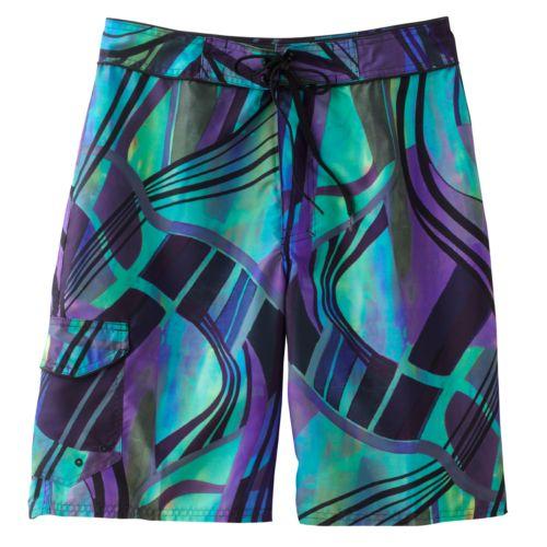 Beach Rays Abstract Board Shorts