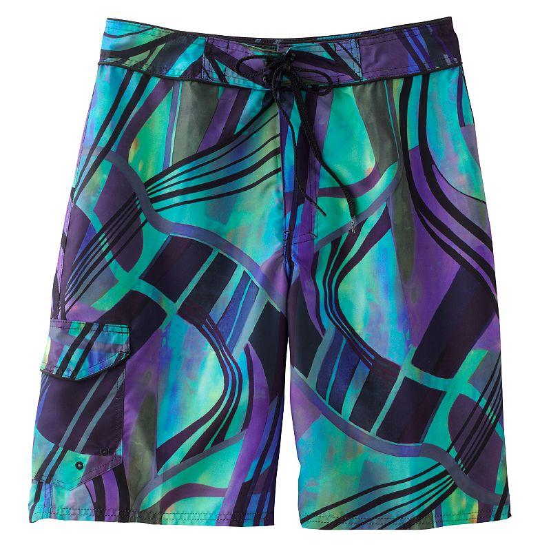 Men's Beach Rays Abstract Board Shorts