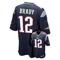 Boys 8-20 Nike New EnglandPatriots Tom Brady Game NFL Replica Jersey