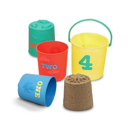Melissa and Doug Seaside Sidekicks 4-pc. Nesting Pails Set