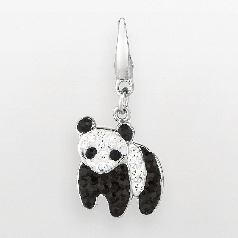Sterling Silver Crystal Panda Bear Charm
