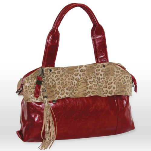 B-Collective by Buxton Leopard Leather Tote