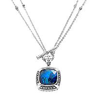Lavish by TJM Sterling Silver Abalone Doublet Frame Pendant - Made with Swarovski Marcasite