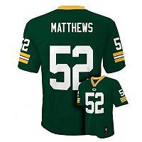 Boys 8-20 Green Bay Packers Clay Matthews NFL Replica Jersey