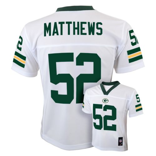 Boys 8-20 Green Bay Packers Clay Matthews NFL Jersey