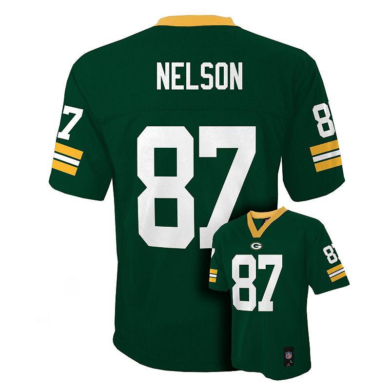 Boys 8-20 Green Bay Packers Jordy Nelson NFL Jersey