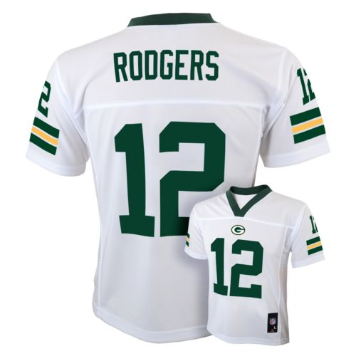Boys 8-20 Green Bay Packers Aaron Rodgers NFL Jersey