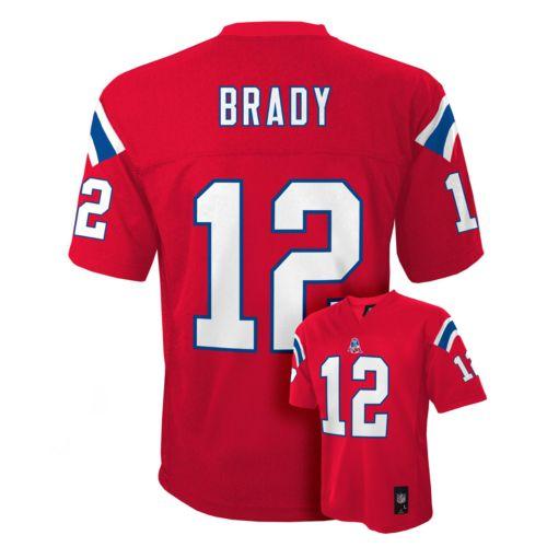 Boys 8-20 New England Patriots Tom Brady Jersey