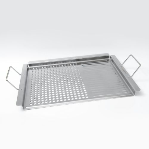 Man Law BBQ Stainless Steel Grill Topper
