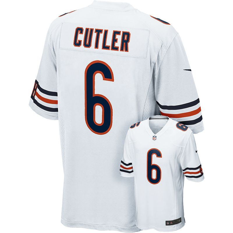 Men's Nike Chicago Bears Jay Cutler Game NFL Replica Jersey