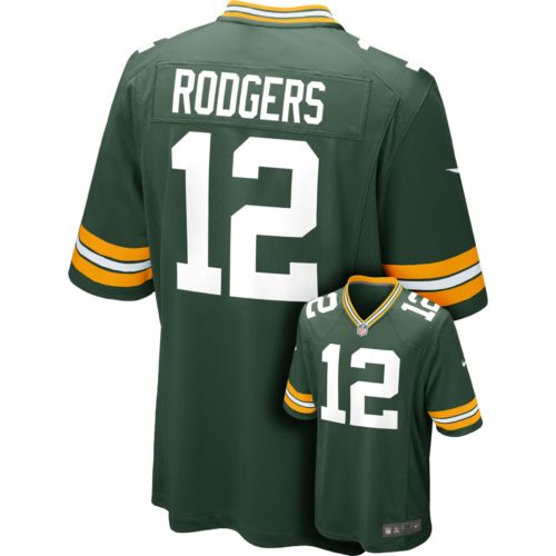 Men's Nike Green Bay Packers Aaron Rodgers Game NFL Replica Jersey