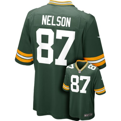 Men's Nike Green Bay Packers Jordy Nelson Game NFL Replica Jersey