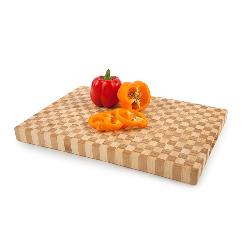 Core Bamboo Pro-Chef Large Checkered Chopping Block