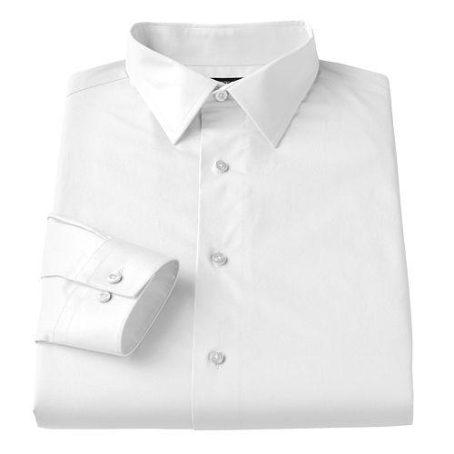 Apt 9 Slim Fit Stretch Spread Collar Dress Shirt Men