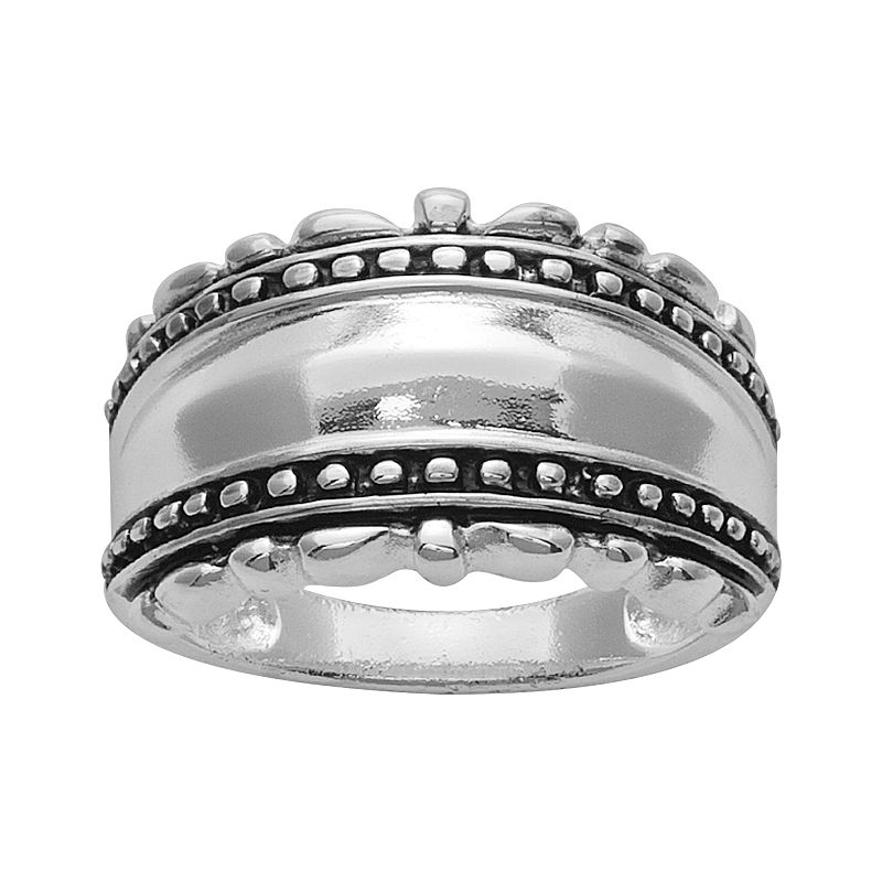 Silver Plated Milgrain Band Ring