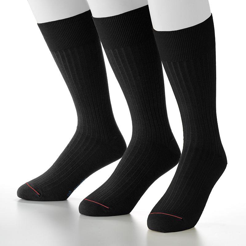 Men's Jockey 3-pk. Staycool Modern Ribbed Crew Performance Socks