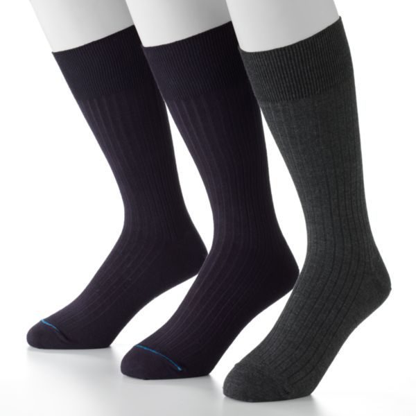 Men's Jockey 3-pk. Staycool Modern Ribbed Crew Performance Socks