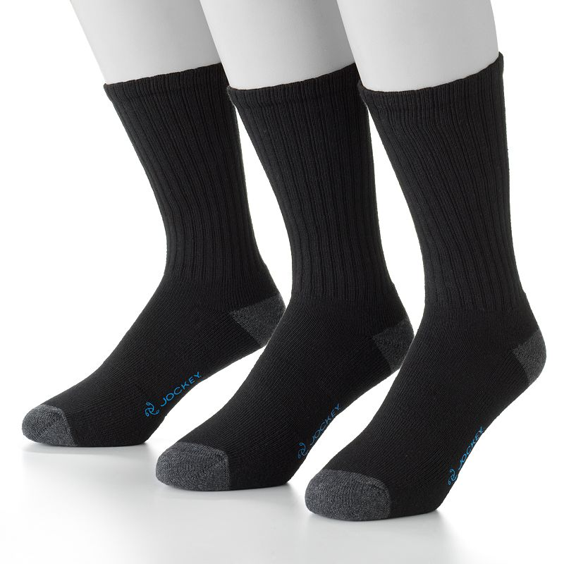 Men's Jockey 3-pk. Staycool Crossover Crew Performance Socks