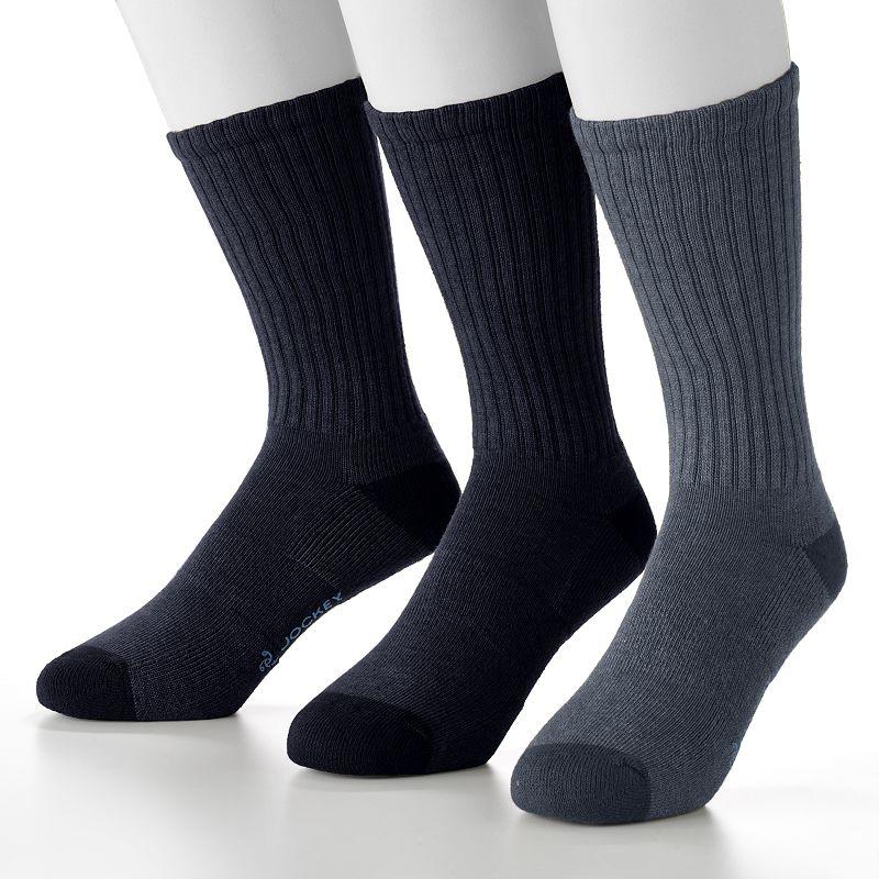 Men's Jockey 3-pk. Staycool Crossover Crew Performance Socks