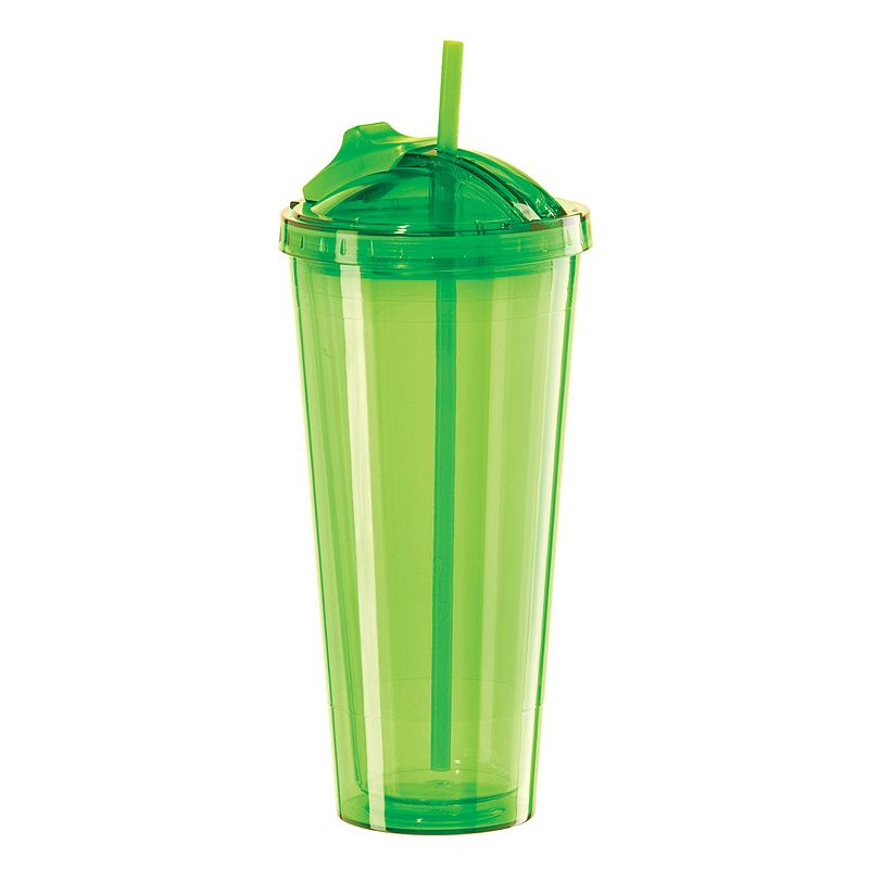 Oggi Insulated Tumbler With Pop-Up Straw