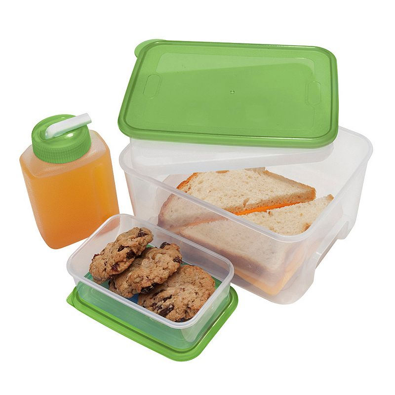Oggi Chill To Go 4-pc. Square Food Container Set