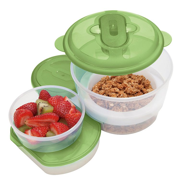 Oggi Chill To Go 5-pc. Circle Food Container Set