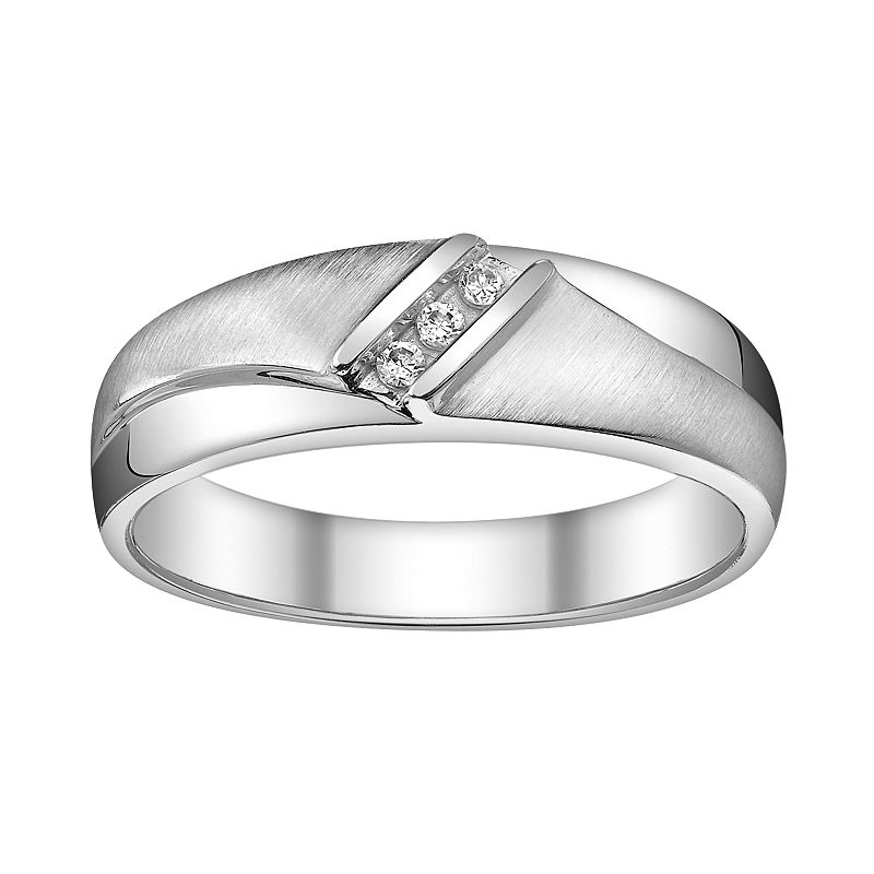 Platina 4 Diamond Accent Wedding Ring - Men