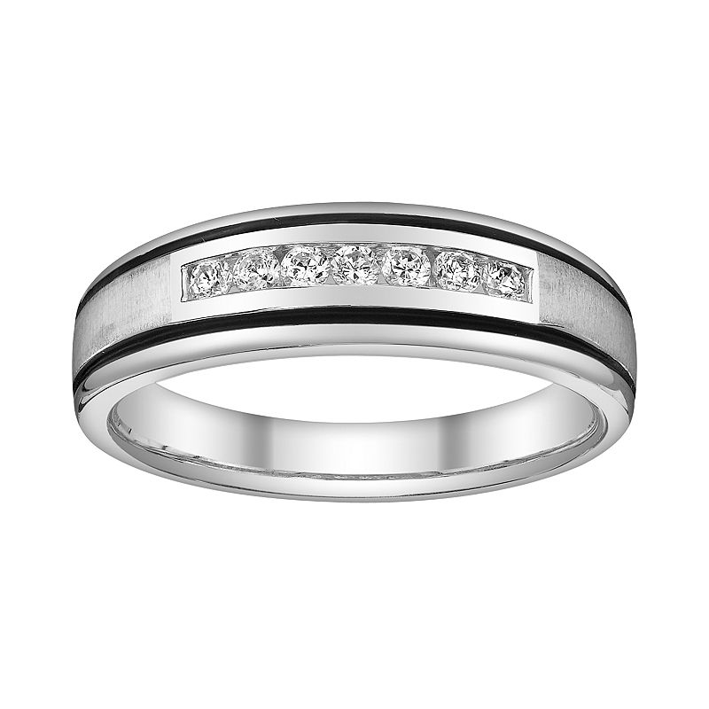 Platina 4 Diamond Accent Wedding Band - Men